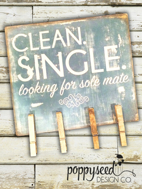 Laundry Room Sock Sign Clean Single And Looking For A Sole Mate Wooden Sign For