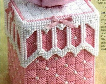Cute Baby Tissue Cover Pattern in Plastic Canvas
