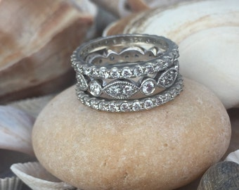 Diamond Wedding Band, Eternity Wedding Band, Eternity Band, Wedding Band, Diamond Eternity Band, Stackable Wedding Band