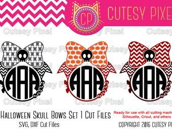 3 Halloween bows, skull bows svg,haloween svg, Designs Svg cutting file, Cricut Design Space, Silhouette Studio,Digital Cut Files