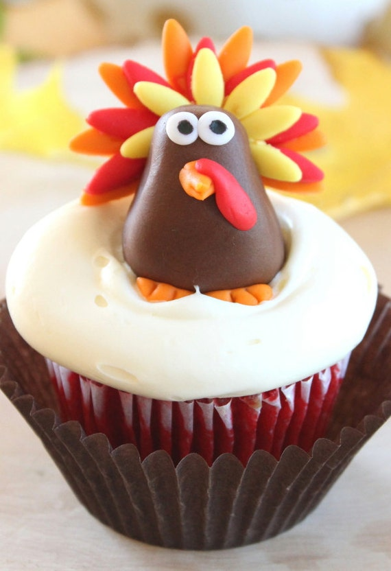 Thanksgiving Fondant Cupcake Toppers | Thanksgiving Wikii  Thanksgiving Fo...