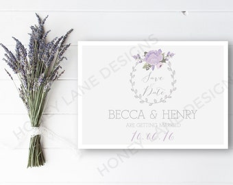 Personalised Printable, Save-the-Date-Printable Card - Becca Collection