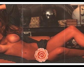 "Mature Playboy December 1974 : Playmate Centerfold Janice Raymond Gatefold 3 Page Spread Photo Wall Art Decor 11"" x 23"""