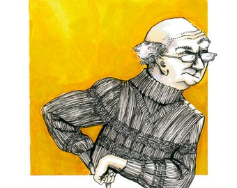 The Critics - Yellow Codger: limited edition giclee print