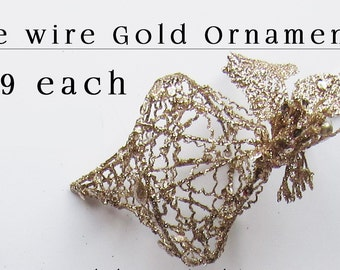 Wire Christmas Ornament - Gold - Christmas Ornament - Large