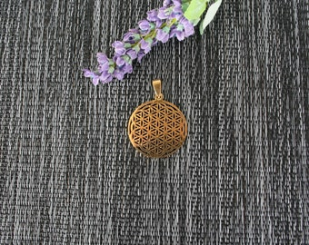 Flower of Life Pendant, Flower of Life Necklace, Gold Necklace, Sacred Geometry Necklace, Gold Flower Of Life Pendant