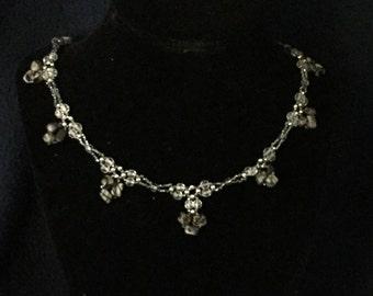 Black Silk Stone Necklace