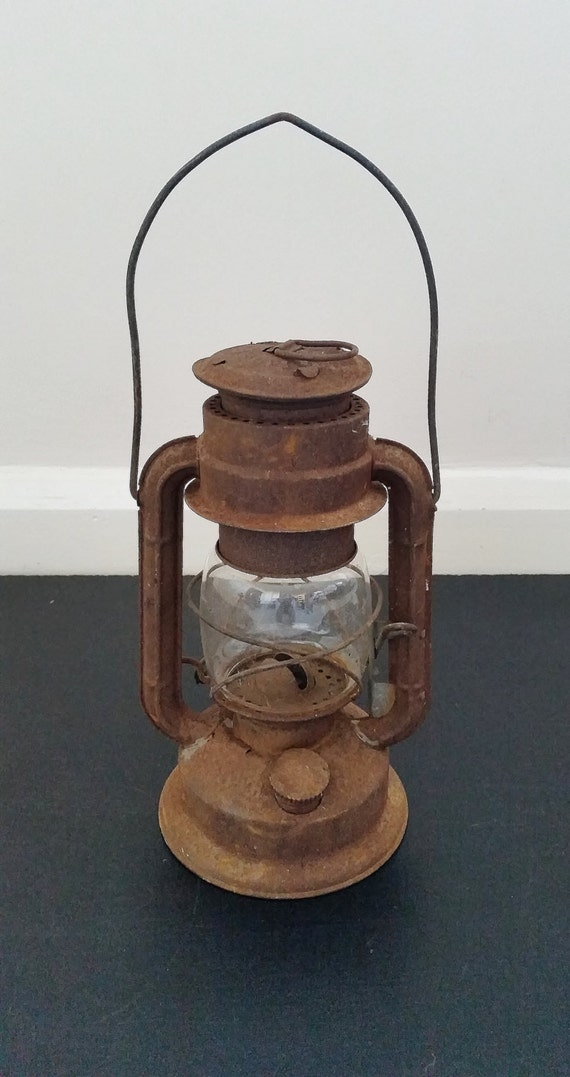 Vintage Oil Lantern Hanging Lamp Old Kerosene Light Rustic