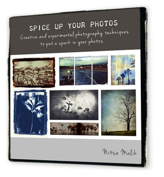 Mixed media photography techniques - EBOOK Instant DOWNLOAD - PDF diy Tutorial - Spice Up Your Photos