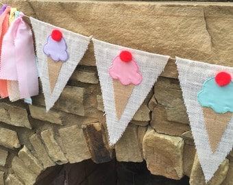 Ice Cream Party, Ice Cream Banner, Ice Cream Social, Ice Cream Birthday Party, Ice Cream Theme, I scream you scream, Ice Cream Cone Banner
