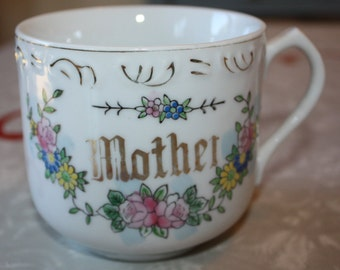 Mother's Day Fun: Vintage Mother Large Floral Tea Cup