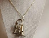 Vintage Horn and Quartz Crystal Necklace