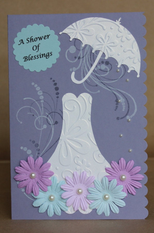 For the Bride to be Bridal Shower Handmade Greeting Card