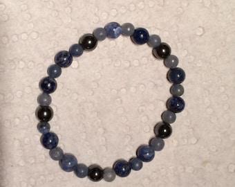 Migraine Healing Bracelet with Sodalite