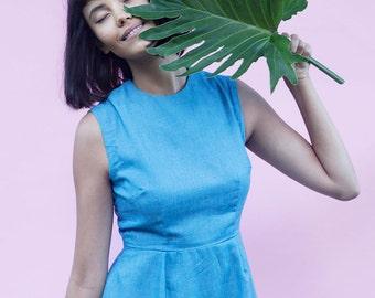 Digital sewing pattern | Cali Dress  | Simple, sleeveless shift dress