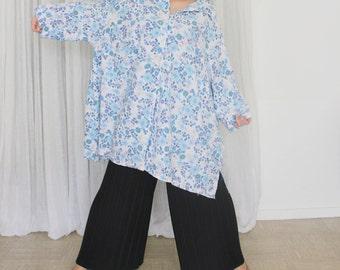 Steve / oversized Shirt / Vintage / 90's / Flower Dress