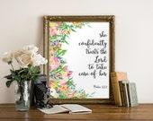 Teen scripture verse, Printable scripture, Inspirational quote, Nursery bible verse, Christian wall art decor, Nursery Palm 112:7 BD-942