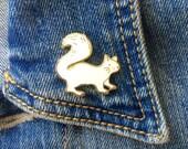 White Squirrel Pin, Enamel Pin, Park Creature, Spirit Animal, Toronto, Trinity Bellwoods Park Mascot, Canada Pin, Lapel Pin, Brooch
