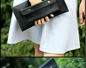 Genuine leather clutch for women - Leather clutch - Handmade Leather Clutch - Clutch Wallet - Tan Leather Clutch - Unisex Clutch - Clutch