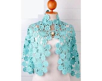 crochet shawl pattern,crochet lace shawl,crochet stole pattern,crochet wrap pattern,crochet bolero,crochet cole pattern,crochet motifs