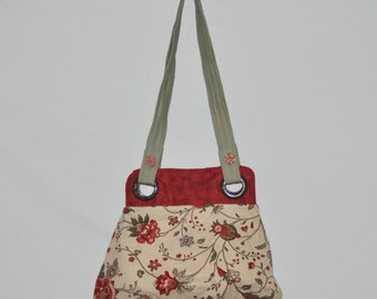 Red & Ecru Purse