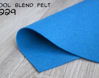 Wool Blend Felt Azure