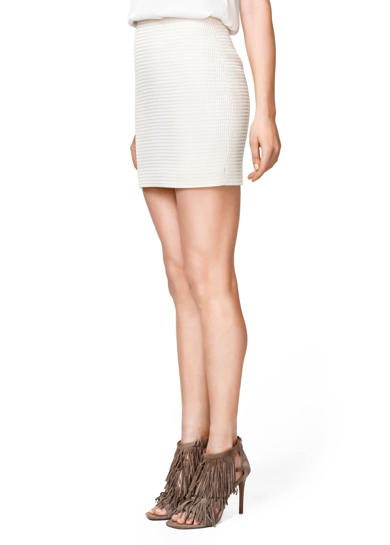 sale white mini pencil skirt linen high waist skirt sexy