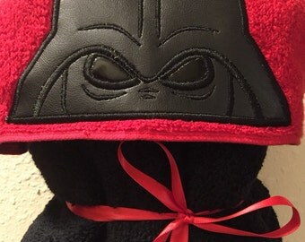 Darth Vader Hooded Towel - Hooded Towel - Towel - Childs Hooded Towel - Adult Hooded Towel - RedRockCraftsWy