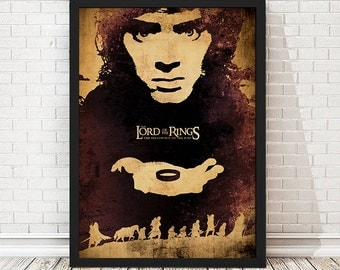 The Lord of the Rings The Fellowship of the Ring Movie Poster, LOTR Poster, LOTR Print, Minimalist Poster, A3 Print (11.7x16,5 inches)
