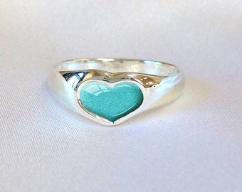 PET ASHES HEART Ring 925 Sterling Silver Pet Ashes Ring Pet Memorial Ring Custom Cremation Jewelry Cremation Heart Ring, Pet Ashes Only