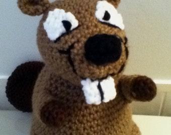 PDF Pattern for Crochet Amigurumi Cute Brown Beaver Doll