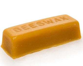 Single Pure Beeswax block - 100% pure and natural beeswax
