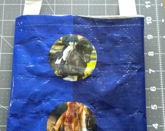 Repurposed Horse feed bag Purse