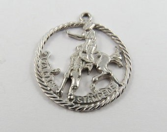 Calgary Stampede Sterling Silver Charm or Pendant.