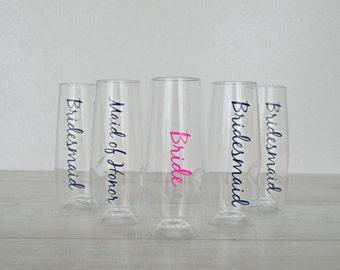 Bridesmaids Champagne Flutes