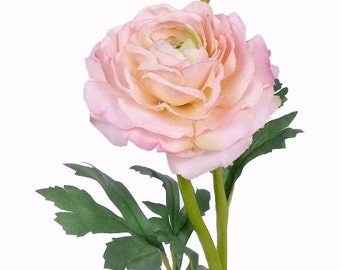 Artificial silk Ranunculus | Natural Color peach  | Artificial Ranunculus Centerpieces  | floral Art | eternal flowers |Spray Ranunculus