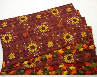 Fall Placemats,  Kitchen Decor, Sunflower Placemats, Autumn Table Decor, Sunflower Decor, Reversible Placemats, Table Decor, Table Linens