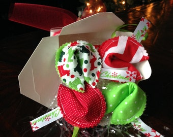 Fortune Cookie Ornaments (set of 4)