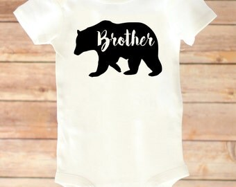 Big Brother Shirt,  Brother Bear Shirt, Announcement, Baby Announcement, New Baby, Brother Bear, Announcement Shirt, Little Brother Bodysuit
