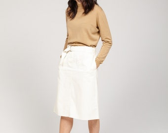 ON SALE**  MM6 white belted skirt
