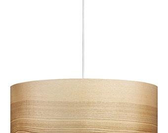 Pendant Lights - Modern Lamp - Natural Ash Shade - Home Decor - Ambient Lighting - Natural Art