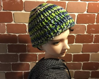 Hand knitted wool cottn cap SD