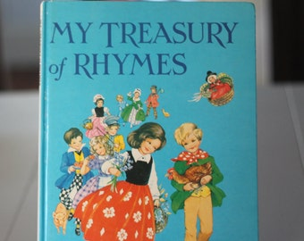 My Treasury of Rhymes 1974 Illustrated by Rene Cloke