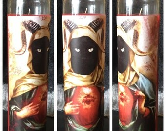 Devil Cat Prayer Candle - Free Shipping (US)