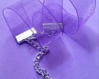 Sheer Purple Choker