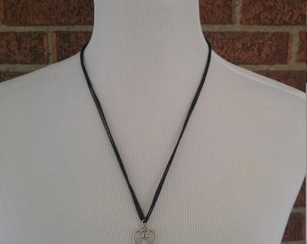 The Marie- Silver and Black Key Necklace