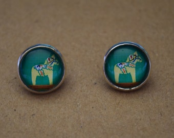 IMPERFECT glass dome earrings. 14mm with surgical steel and nickel free posts