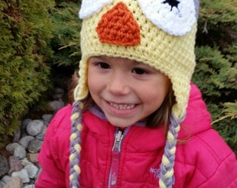 Tuque OWL grey and yellow 3-5 years available immediately