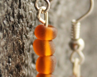 Simple Brown Earrings