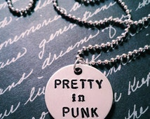Pretty in Punk Fall Out Boy Hand Stamped Necklace